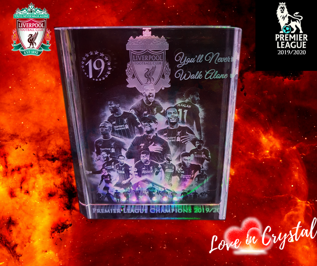 Liverpool Premier League 2020 Champions Crystal