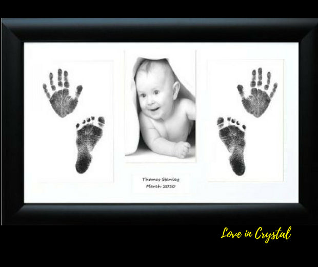 Combine Baby Photo with hand and foot prints