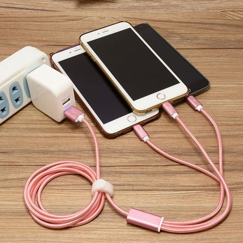 3-in-1 USB Cable Charger