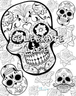 Skull Colouring Page | The Gig Economist