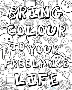 Freelance Colouring Page | The Gig Economist