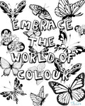 Butterfly Colouring Page | The Gig Economist
