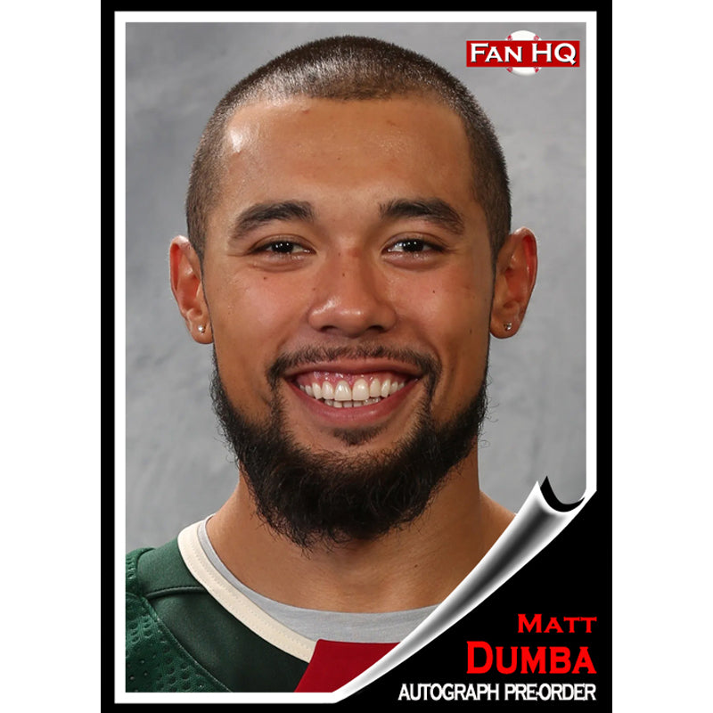 PRE-ORDER Matt Dumba Signed Items