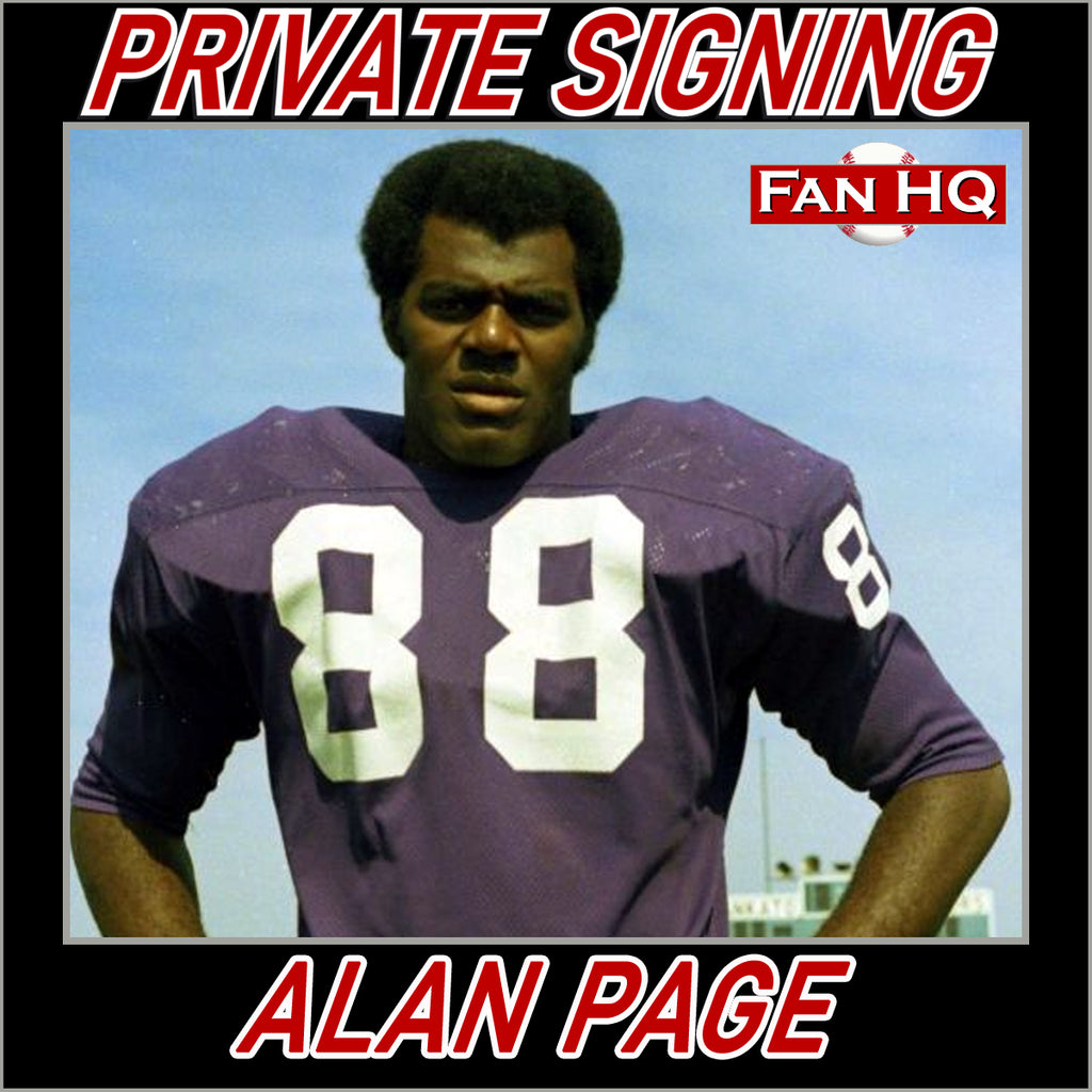 Alan Page Private Signing