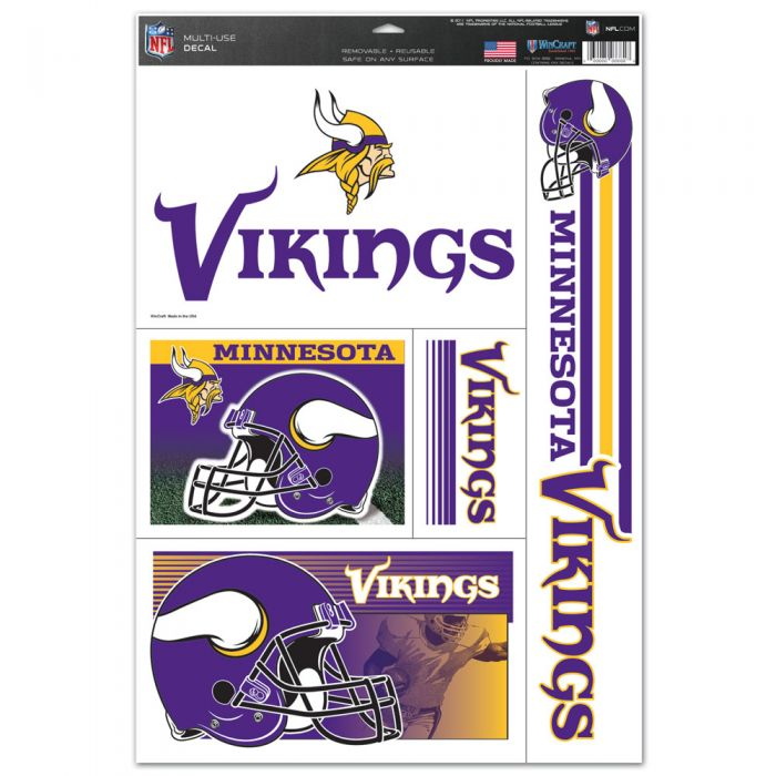 "Minnesota Vikings Multi-Use Decals 11"" x 17"""