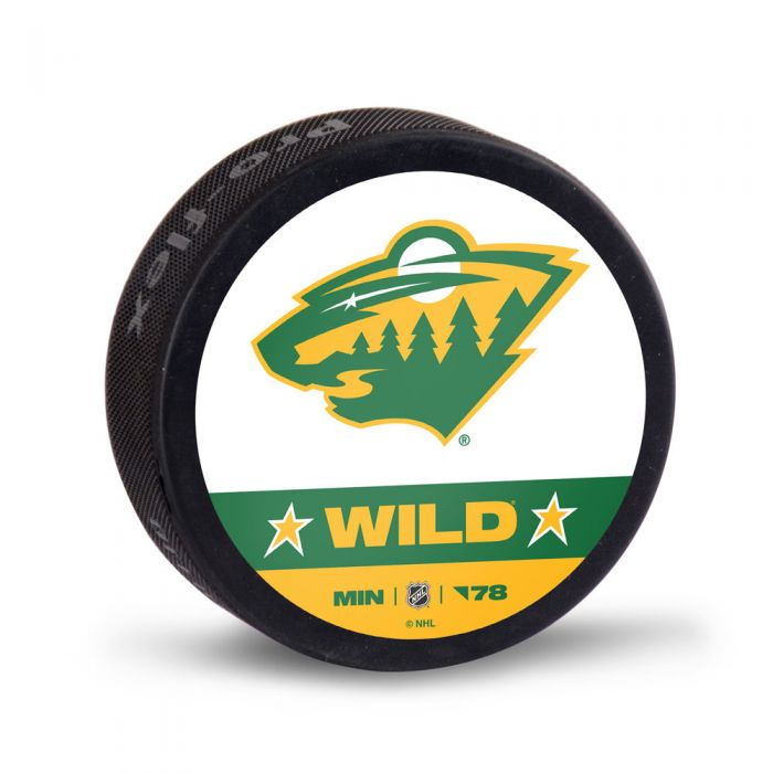 Minnesota Wild Reverse Retro Hockey Puck w/ Case