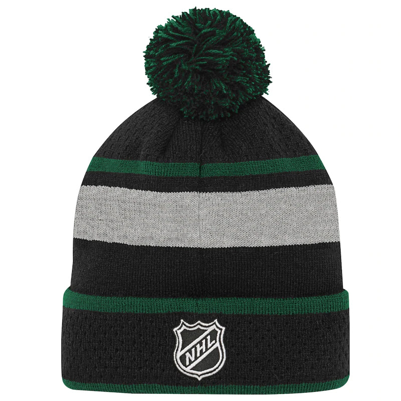 Minnesota Wild Youth Black/Green Breakaway Cuffed Knit Hat w/ Pom