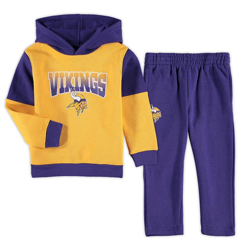 Minnesota Vikings Toddler Sideline 2 pc Hoodie & Pants Set