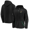 Minnesota Wild Black Fanatics Rinkside Grid-Back Raglan Full-Zip Hoodie Jacket