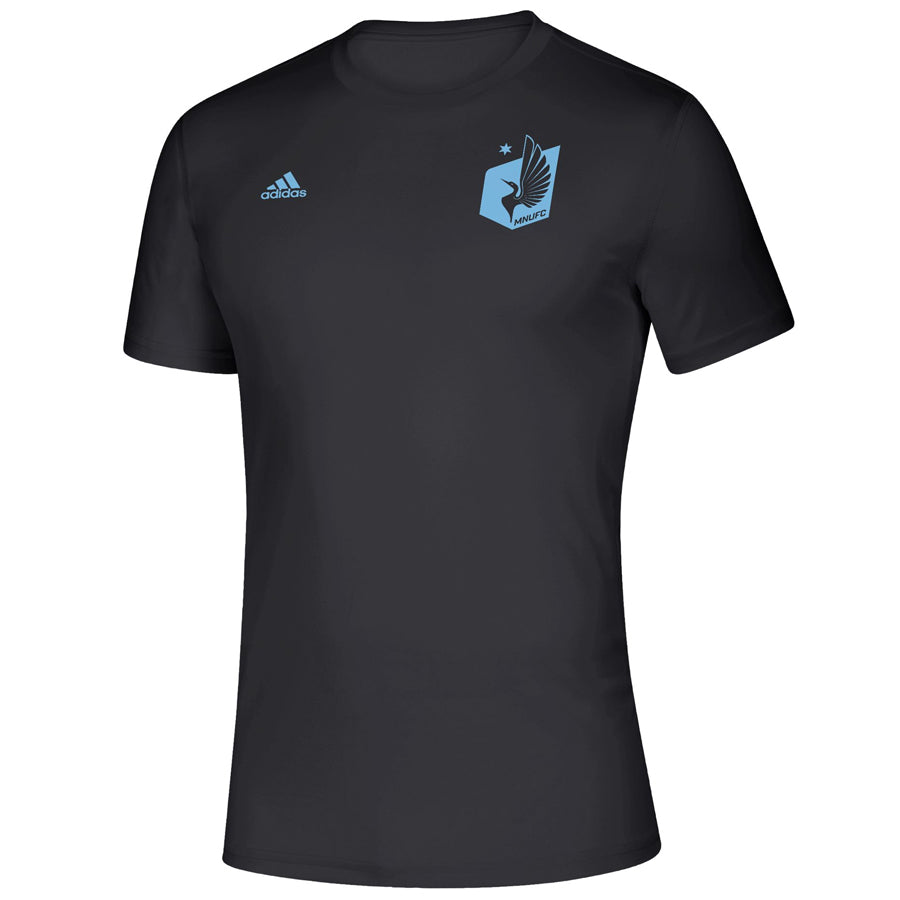 Minnesota United FC adidas Black Iconic Logo T-Shirt