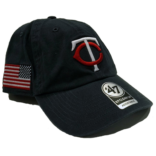 Minnesota Twins '47 Clean Up Navy TC American Flag Side Hat