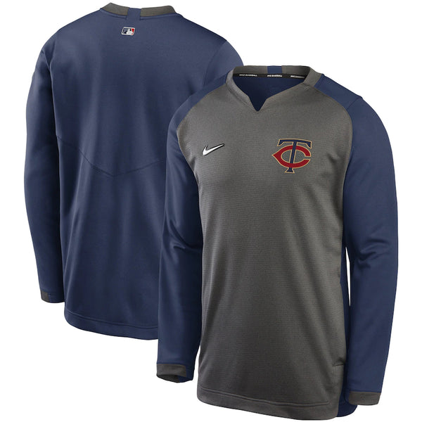 Minnesota Twins Nike Authentic Collection Thermal Crew Performance Pullover Sweatshirt