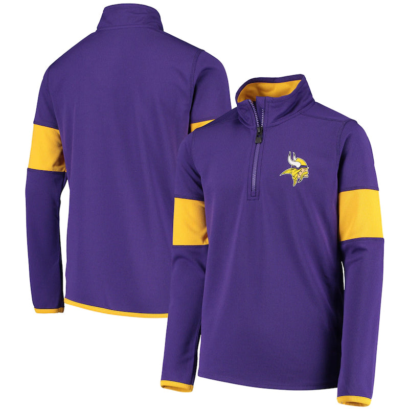 Minnesota Vikings Youth Yard Line Quarter-Zip Jacket