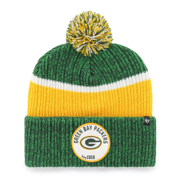 Green Bay Packers '47 Brand Holcomb Cuff Knit w/ Pom