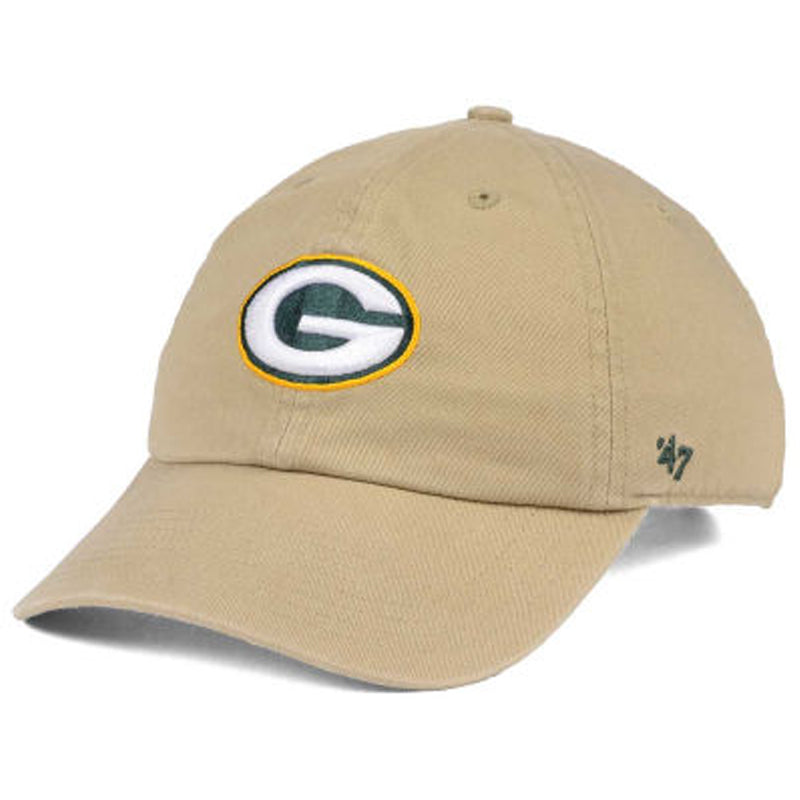 Green Bay Packers '47 Clean Up Khaki Logo Hat