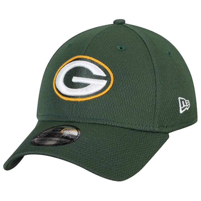 Green Bay Packers New Era Green Logo 39THIRTY Flex Fit Hat