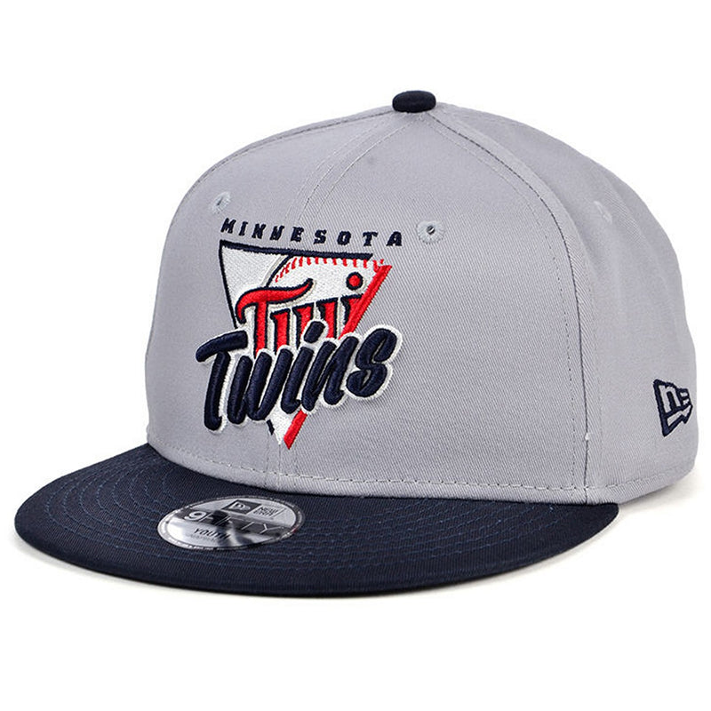 Minnesota Twins Youth Gray/Navy New Era 9FIFTY Lil Away Game Snapback Cap