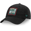 Minnesota Wild Fanatics Black This Is Our Ice Adjustable Hat