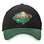 Minnesota Wild Fanatics Black/Green Flex Fit Hat