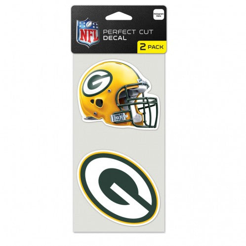 "Green Bay Packers 2-pack 4"" x 4"" Perfect Cut Color Decals"