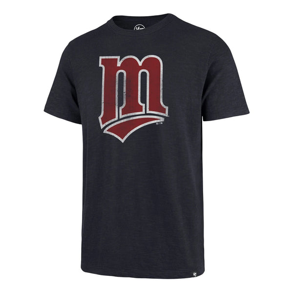 Minnesota Twins Navy Cooperstown Grit M Logo Scrum T-Shirt