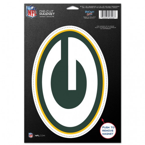 Green Bay Packers Die-Cut Logo Magnet