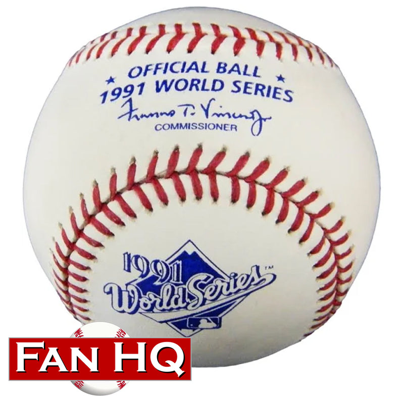 1991 World Series Rawlings Official Major League Baseball Minnesota Twins