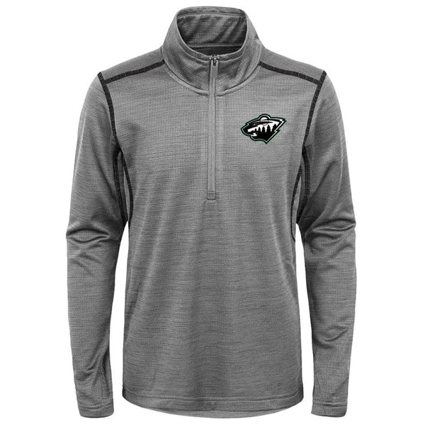 Minnesota Wild Youth Gray Back to the Arena 1/4 Zip