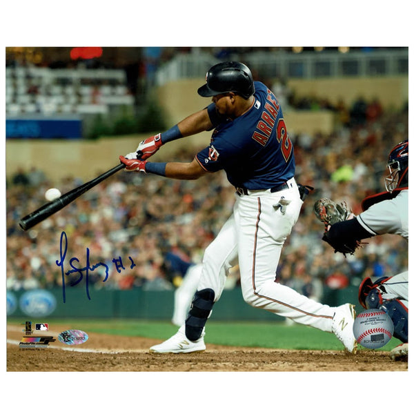 Luis Arraez Autographed Minnesota Twins Hitting 8x10 Photo