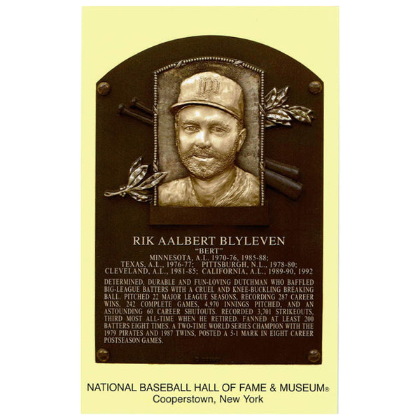 Bert Blyleven National Baseball Hall of Fame Post Card Minnesota Twins