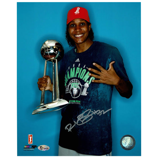 Rebekkah Brunson Autographed Minnesota Lynx Trophy 8x10 Photo