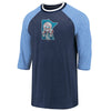 Minnesota Twins Cooperstown Collection True Classics Distressed Raglan 3/4-Sleeve T-Shirt