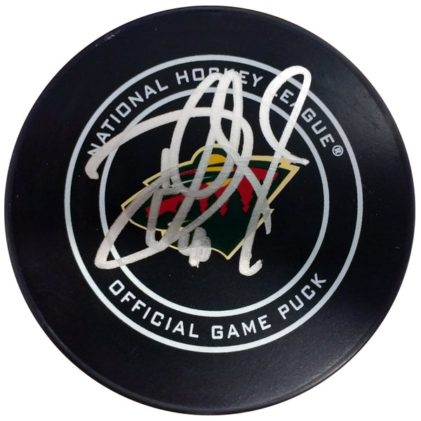 Devan Dubnyk Autographed Minnesota Wild Official NHL Game Puck