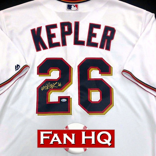 Max Kepler Autographed Majestic Replica Jersey Minnesota Twins