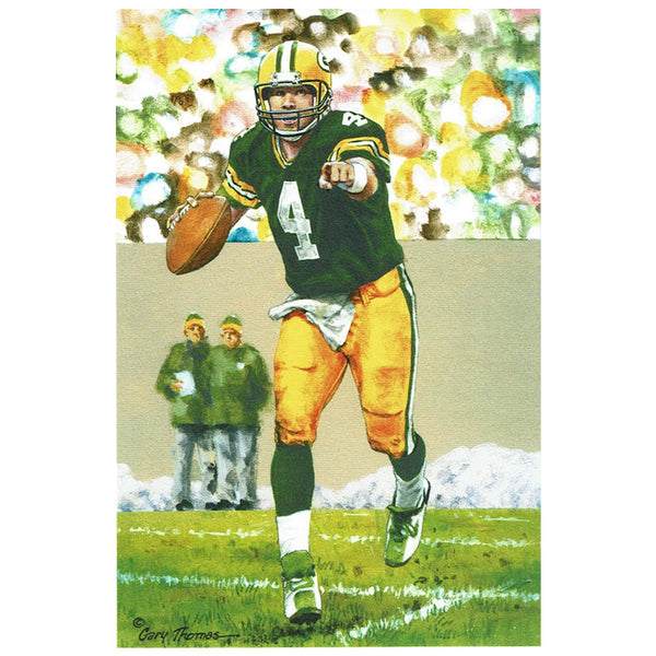 Brett Favre Pro Football Hall of Fame Goal Line Art Card Green Bay Packers