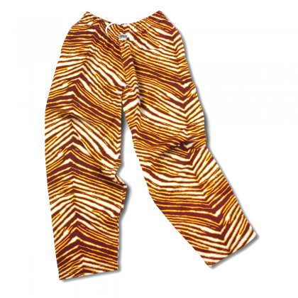 Zubaz Maroon/Gold Zebra Pants - Minnesota Golden Gophers colors!