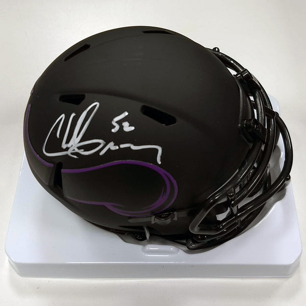 Chad Greenway Autographed Minnesota Vikings Eclipse Mini Helmet