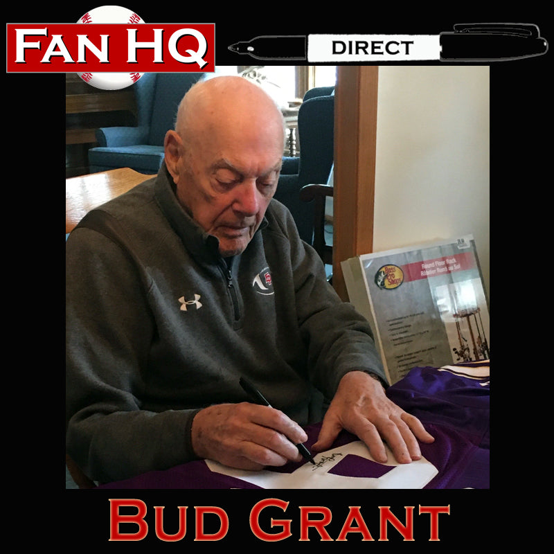 PRE-ORDER Bud Grant Autographed Wilson Full-Size Replica Football