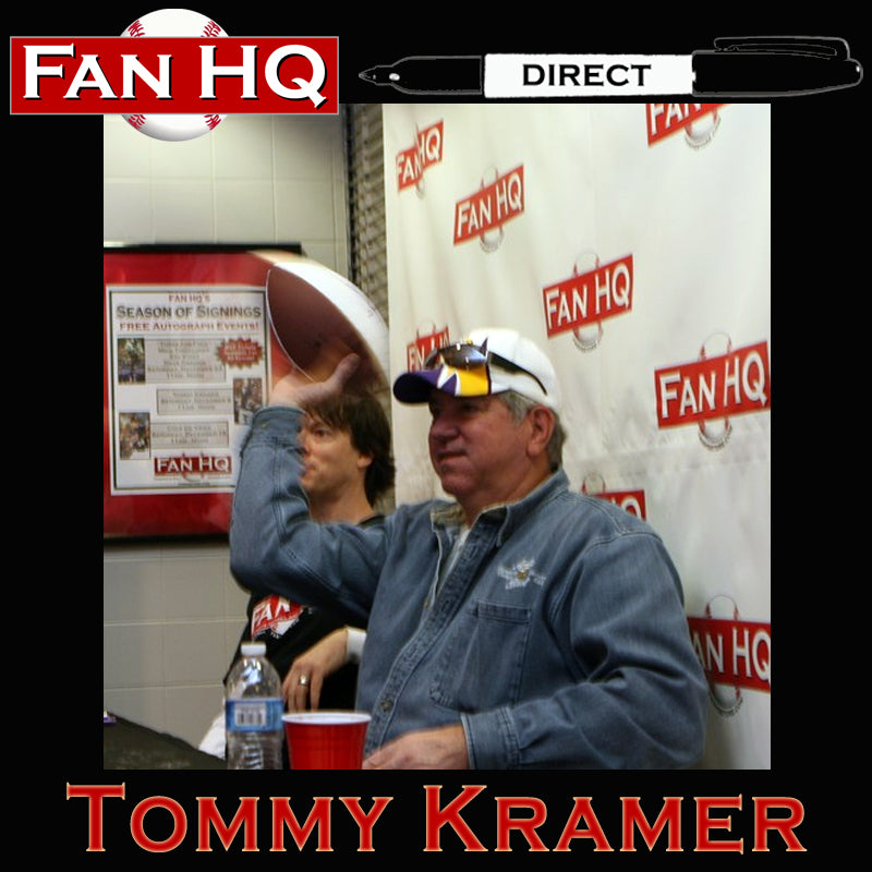 PRE-ORDER Tommy Kramer Autographed Wilson Full-Size Replica Football