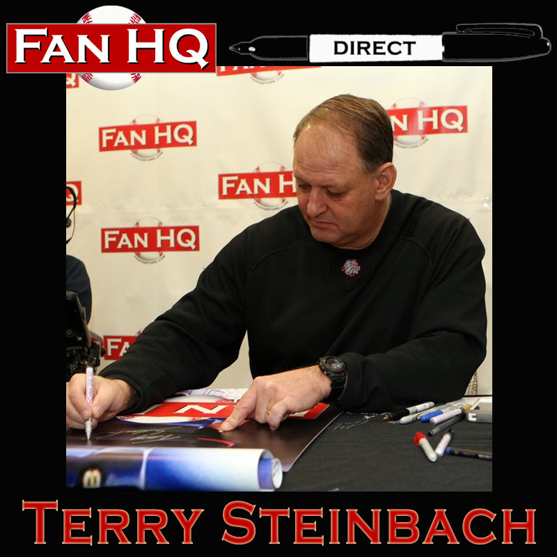PRE-ORDER Terry Steinbach Autographed Rawlings Big Stick Bat (Black)