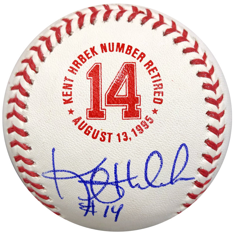 Kent Hrbek Autographed Fan HQ Exclusive Number Retired Baseball Minnesota Twins