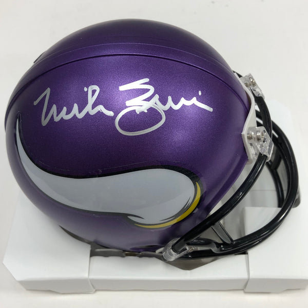 Mike Zimmer Autographed Minnesota Vikings Mini Helmet