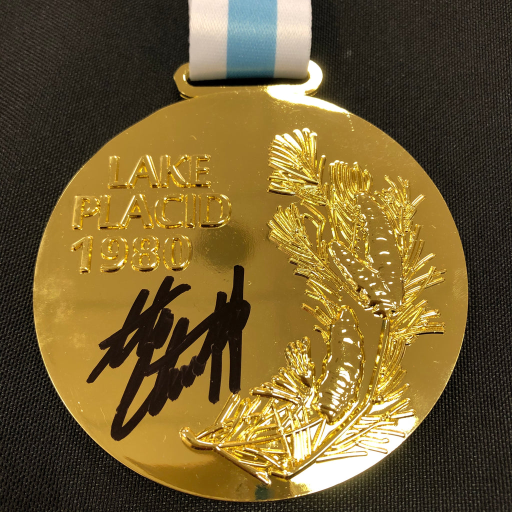 Steve Christoff Autographed Replica 1980 Gold Medal