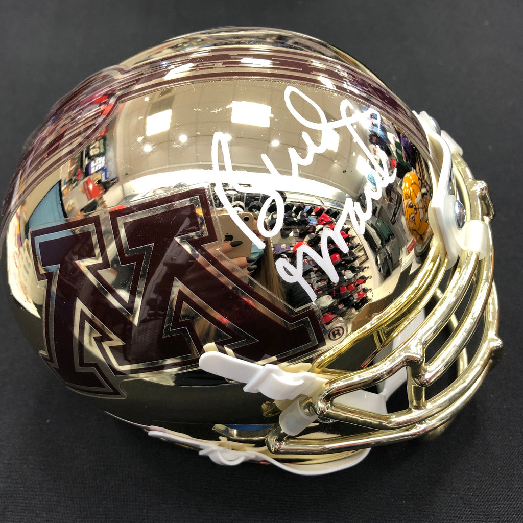 Bud Grant Autographed Minnesota Gophers Chrome Mini Helmet