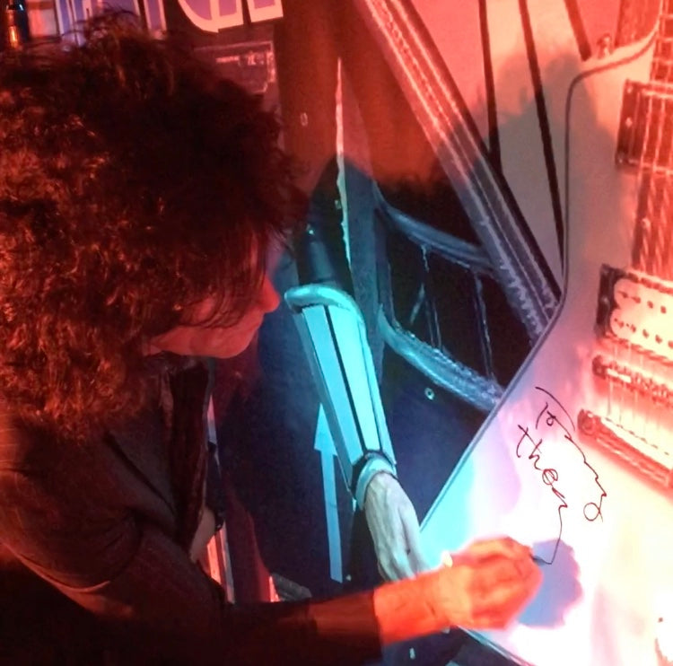 KISS Tommy Thayer Autographed One of a Kind Stage Banner