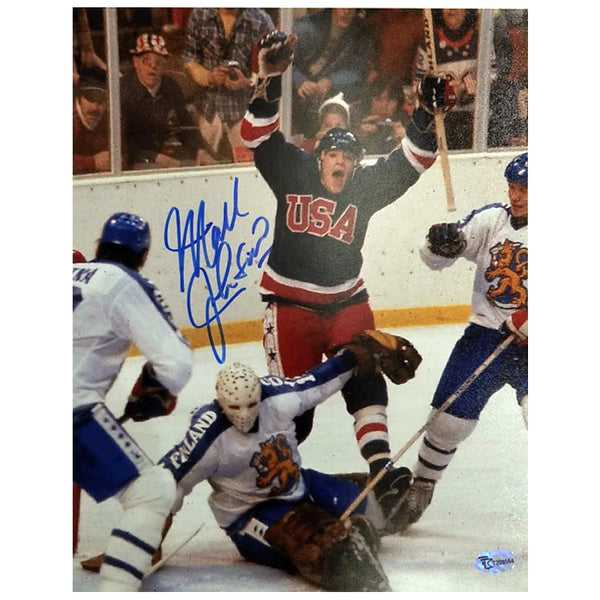 Mark Johnson Autographed Team USA 8x10 Photo