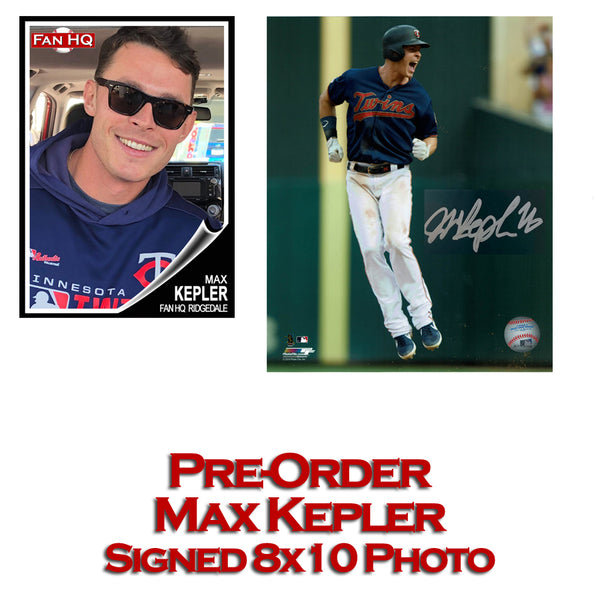 PRE-ORDER Max Kepler Autographed 8x10 Photo