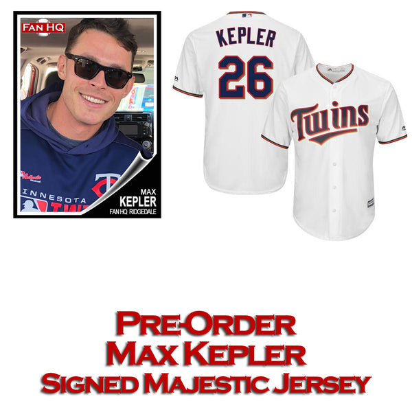 PRE-ORDER Max Kepler Autographed Majestic White Replica Jersey