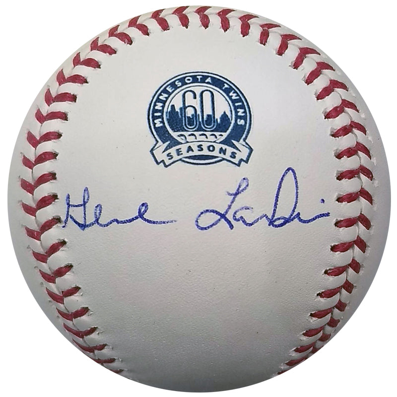 Gene Larkin Autographed Minnesota Twins 60th Season Baseball