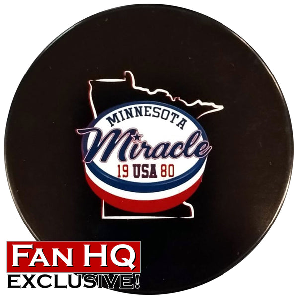 Minnesota Miracle 1980 Exclusive Unsigned Puck w/ Case
